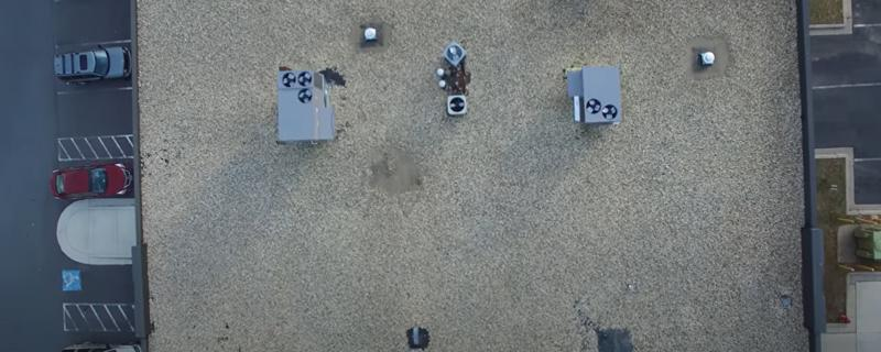 aerial inspection of a commercial roof in Arizona